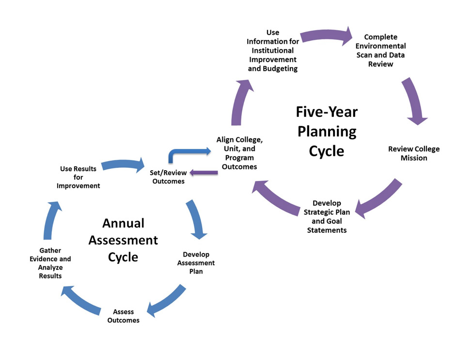 Planning and assessment cycle graph
