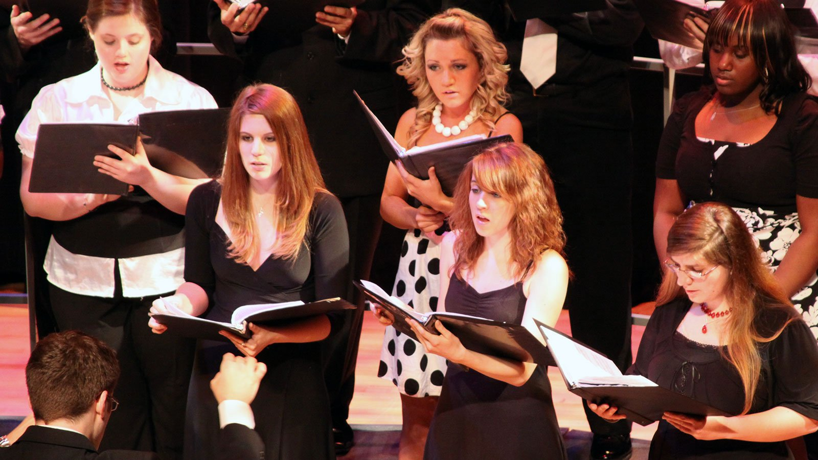 Photo of a musical choir during a recital