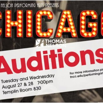 Image for Open Auditions for 'Chicago'  Aug. 27-28
