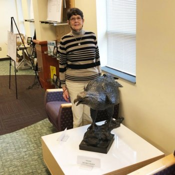 Image for Eagle Sculpture Donated to Historic Triangle Campus