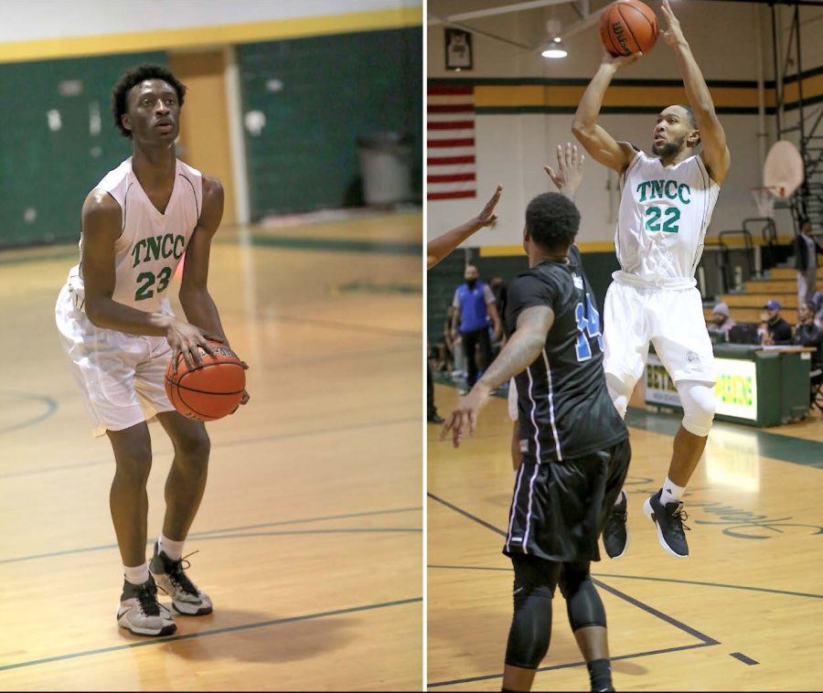 Image for Men's Basketball Players Collins, Hood Receive Honors