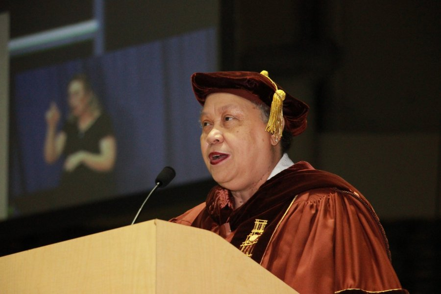 Image for Former Va. Secretary of Education's  Rousing Keynote Address at 49th Commencement Stirs Crowd